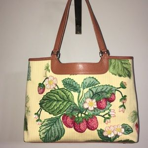 Isabella Fiore 'Strawberry' Canvas Beaded Tote